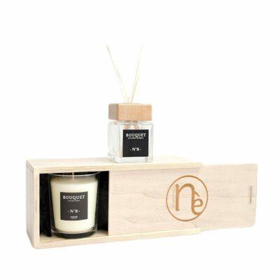 coffret bougies parfumées et diffuseur